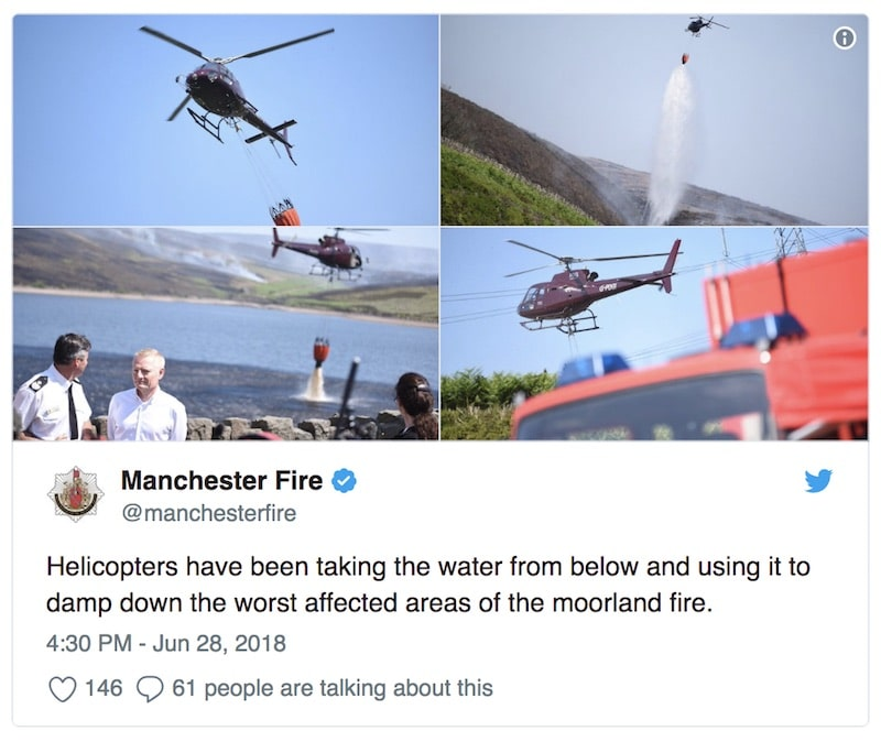 Manchester Fire Moor Photos