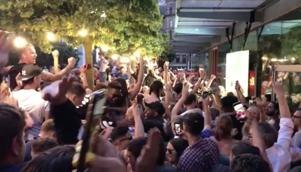 The Absolute Scenes In Manchester When England Won On Penalties