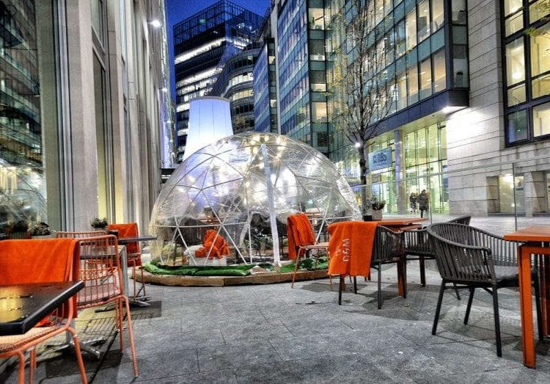 Giant Igloos Where Guests Can Enjoy Cocktails And Pigs In Blankets Have Popped Up At This Manchester Restaurant