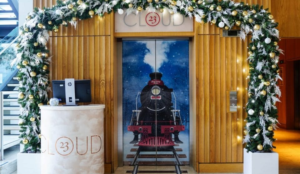 Manchester's Cloud 23 Bar Has Been Transformed Into A Festive Steam Train In The Sky
