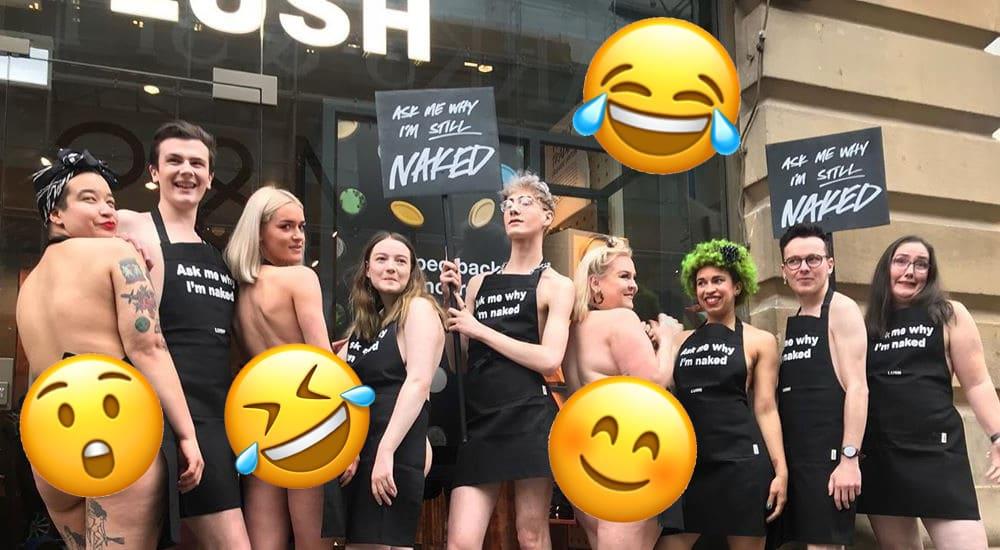 Inside Manchester's 'Naked' Lush Store