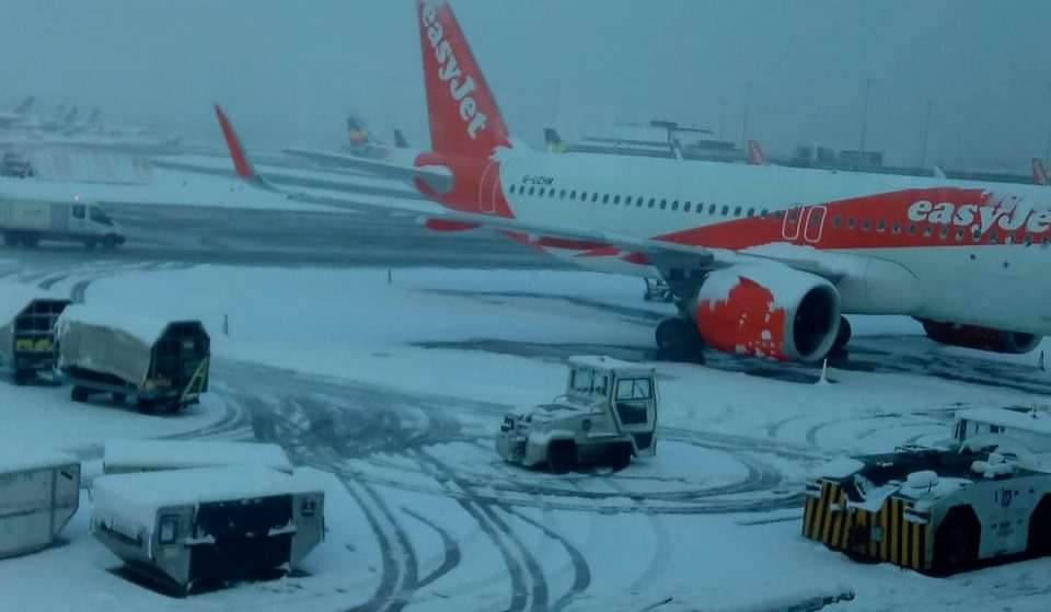 Manchester Airport Runways Have Been Closed And Flights Have Been Cancelled Due To Heavy Snow