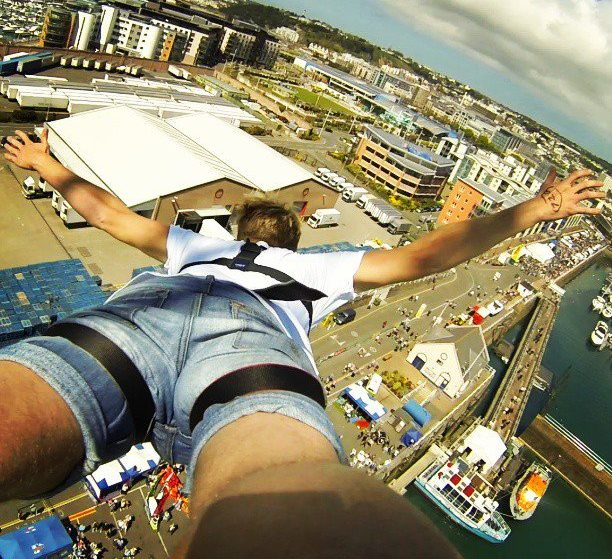 Adrenaline Junkies Are Invited To Test Their Nerve And Bungee Jump From 160ft Over Salford Quays