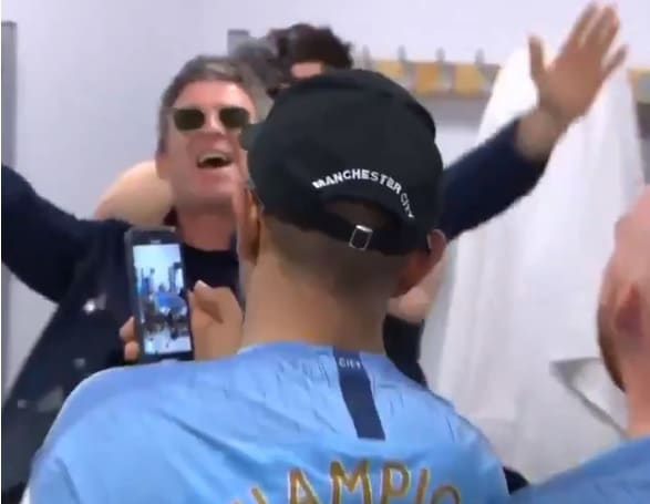 Watch: Noel Gallagher Leading An Oasis Sing-Along In The Man City Dressing Room