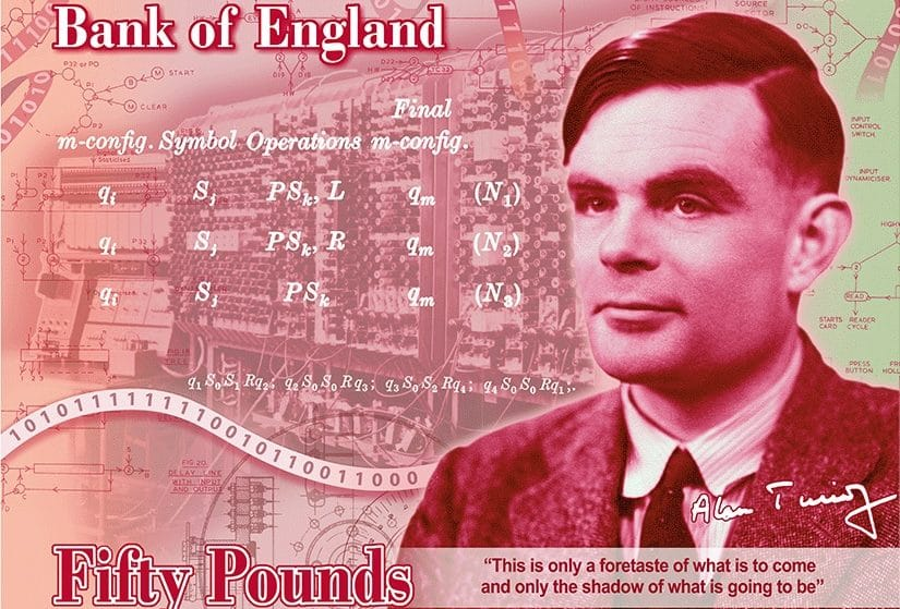Alan Turing's Face Will Be On The New £50 Banknote