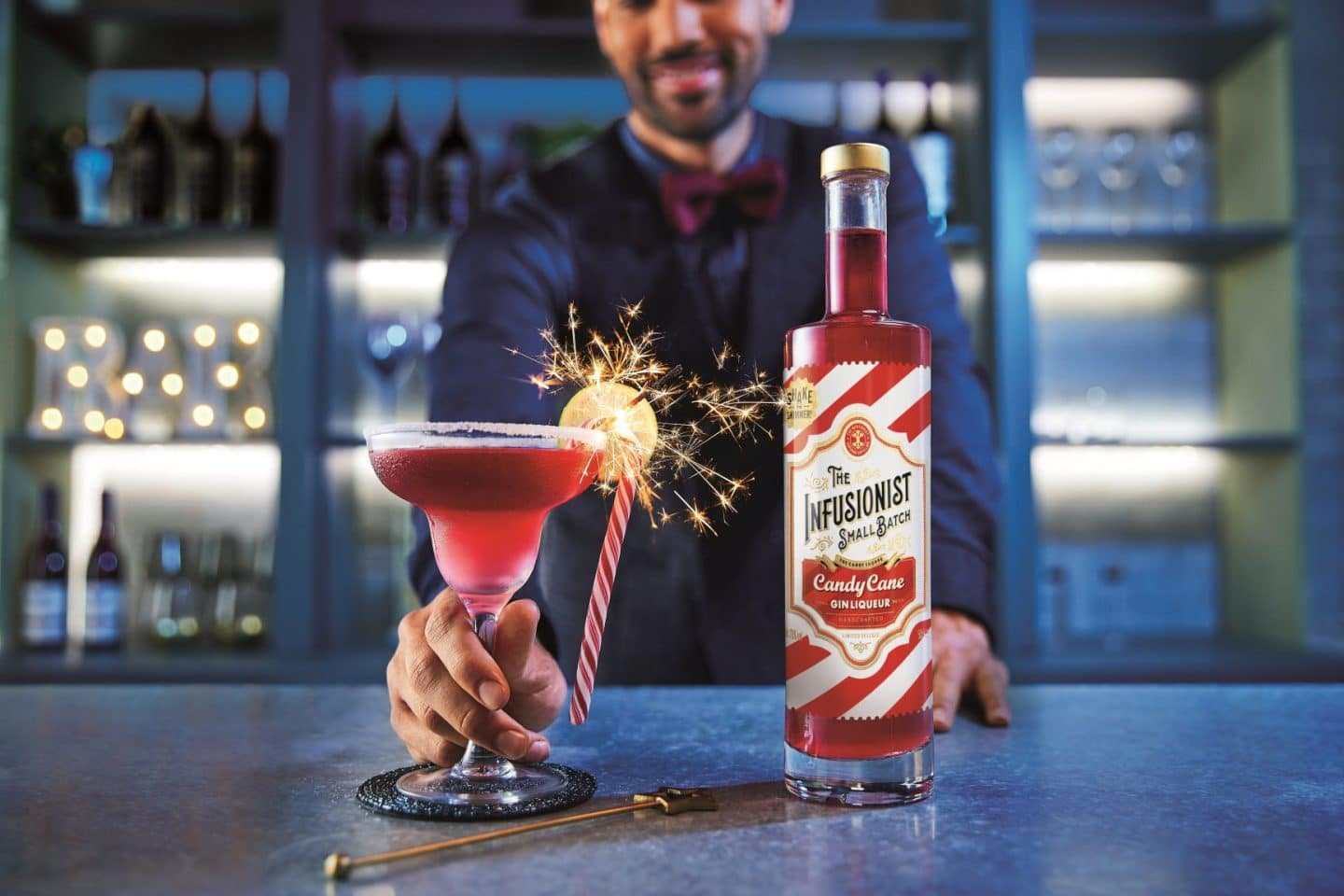 Aldi Is Releasing A Glittery Candy Cane Gin Liqueur For Christmas