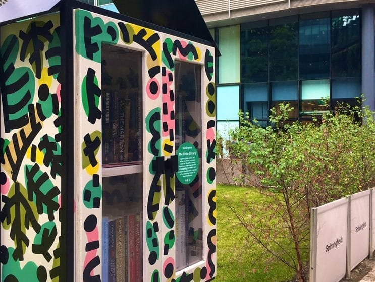 A Tiny Library Has Popped-Up In Manchester's Spinningfields