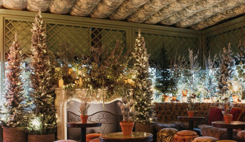 The Ivy Has Transformed Its Roof Garden Into The North Pole For Christmas