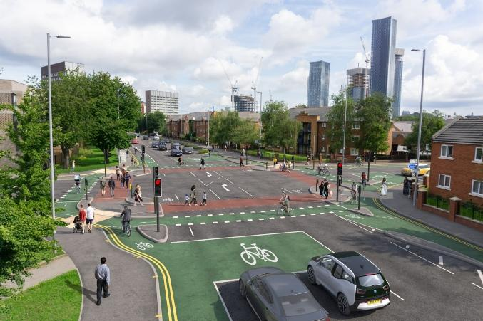 The First Phase Of The City Centre-Chorlton Cycleway Is Underway
