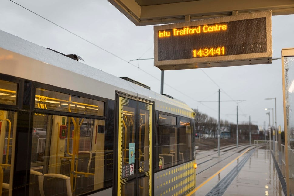 The Trafford Centre Metrolink Line Will Open Months Earlier Than Expected
