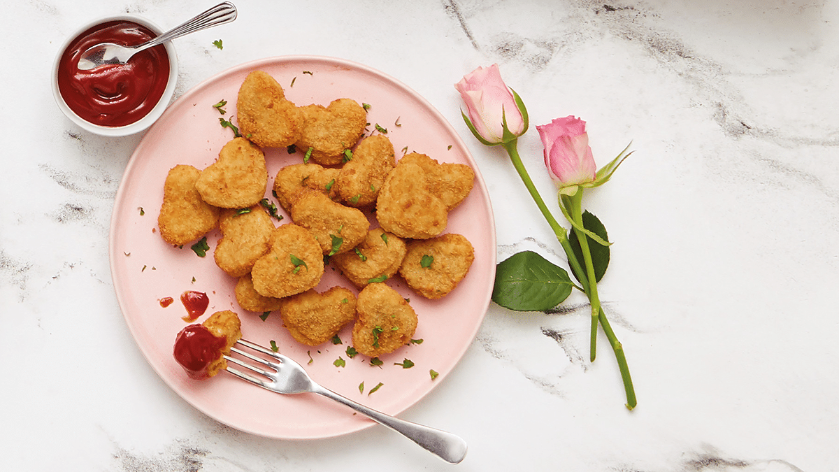Aldi Is Selling Romantic Heart-Shaped Chicken Nuggets For Valentine's Day