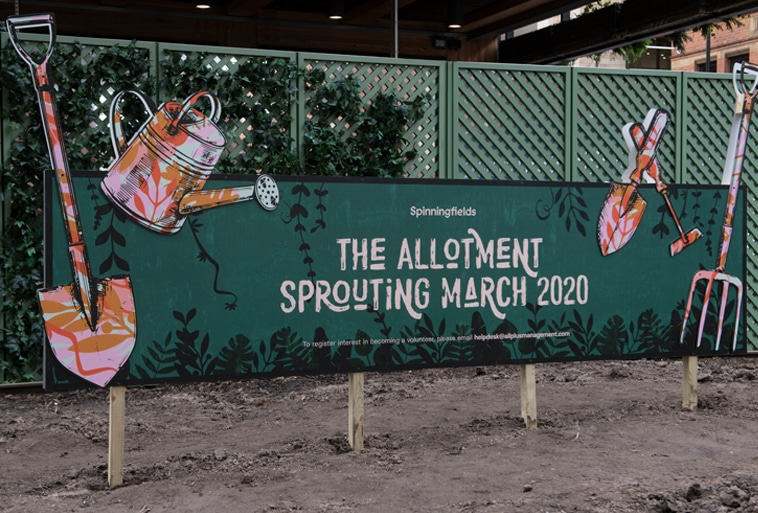 Mancunians Can Take On A Lunchtime Hobby At Spinningfields' New Allotment