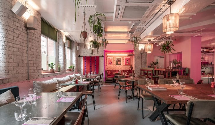 This Manchester Restaurant Has Transformed Into A Pink Paradise Thanks To Eaton House Studios